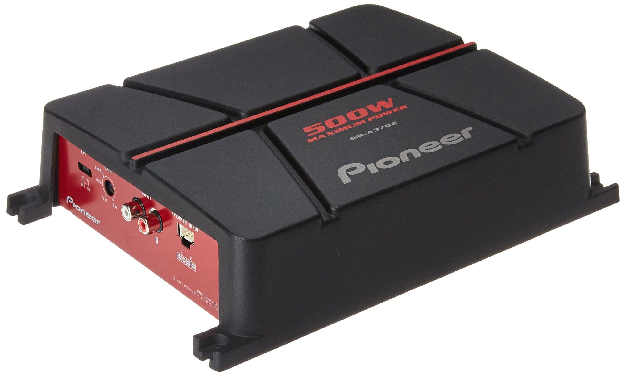 Pioneer GM-A3702 2-Channel Bridgeable Amplifier ,Black/red