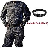 WorldShopping4U Hommes Tactique EDR Combat Uniforme Veste Chemise & Pantalons Costume pour Armée Militaire Airsoft Paintball Chasse Tournage Guerre Jeu (M)