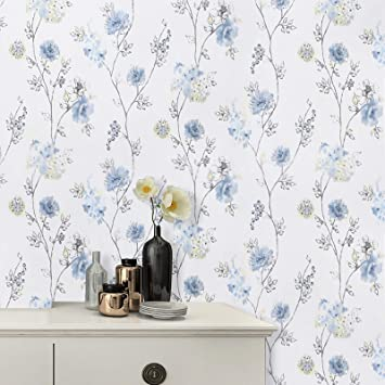 Peel and Stick Wallpaper Floral Contact Paper Self Adhives Waterproof Decor Roll