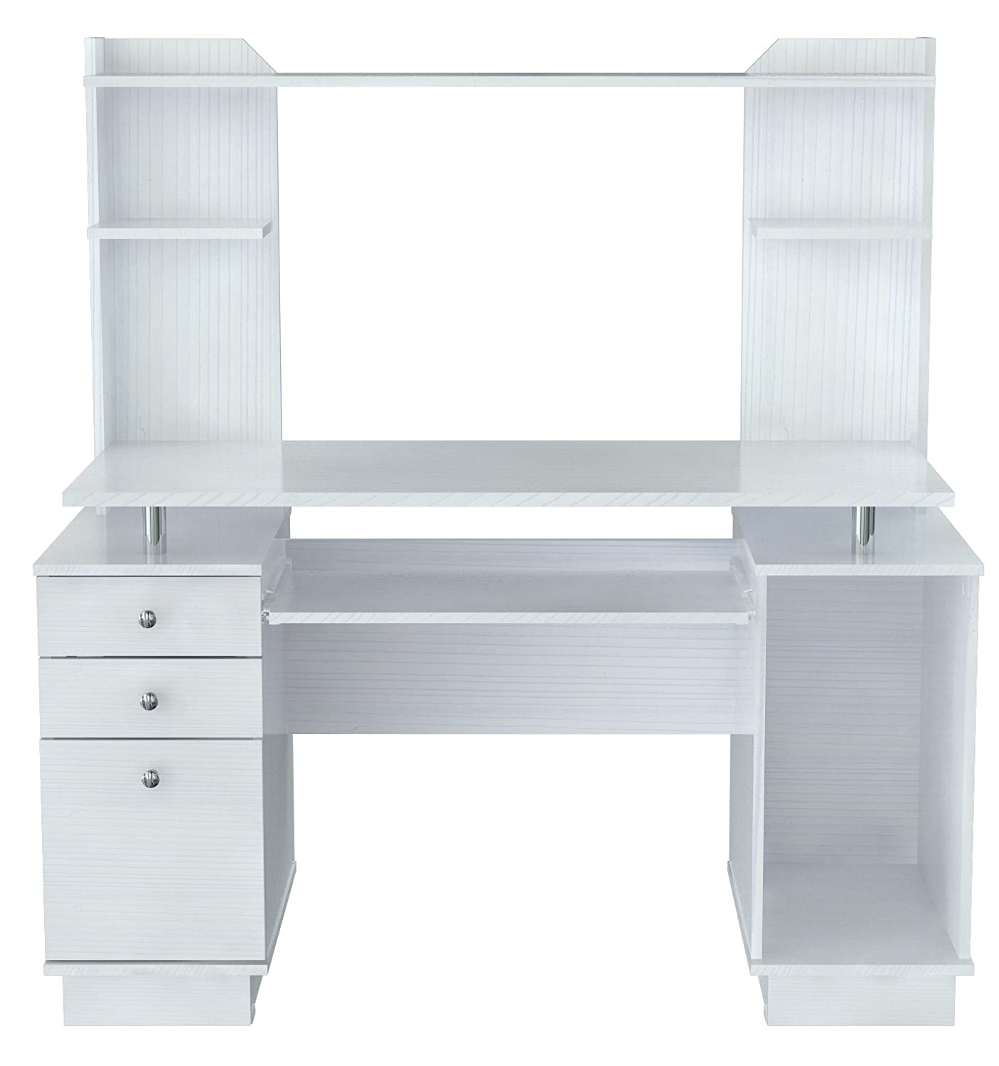 Lovely Amazon.com: Inval CC 5901 Laura Collection Computer Work Center With Hutch:  Kitchen U0026 Dining