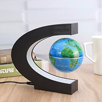 Magnetic levitation floating world map globe office decor led magnetic levitation floating world map globe office decor led learning educational geographic political globeswith funny c gumiabroncs Choice Image