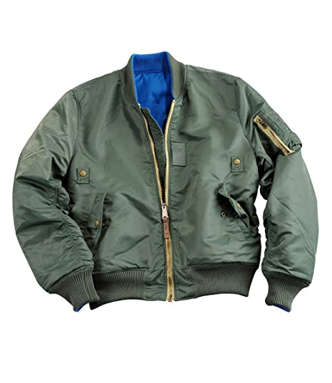 Alpha Industries MA-1 Rev Transition Coatt Sage Gr  Amazon.co.uk  Clothing 57fb884b96