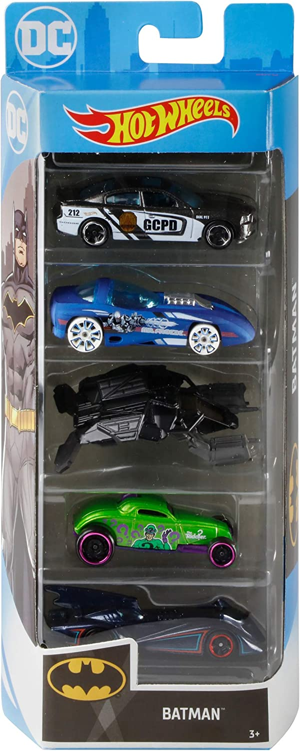 Hot Wheels Batman Vehicles, 5-Pack