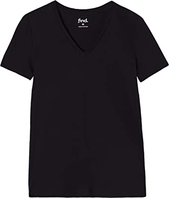 Marca Amazon - find. Camiseta Cuello en Pico Mujer, Pack de 2, Negro (Schwarz), 46, Label: XXL: Amazon.es: Ropa y accesorios