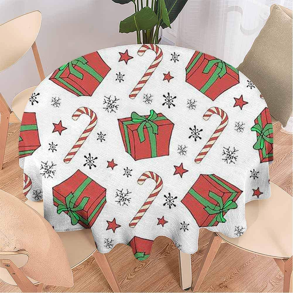 Tablecloth, Cane Lollipop in Vintage Style on a,Table Cloth for Dining Room 63 Inch Round