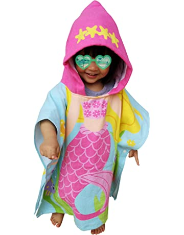 Baby Care Intelligent Disney Mermaid Hooded Towel Children Cartoon Bathrobe Cotton Breathable Soft Baby Bath Towel
