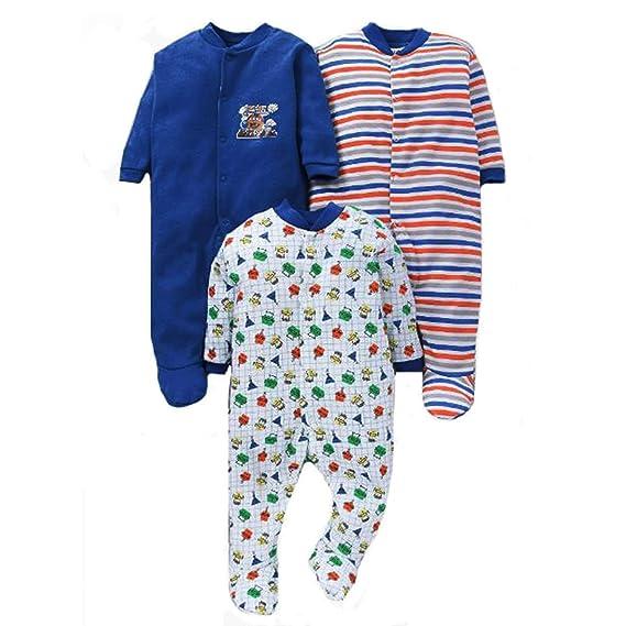 9f972e2ad8e9 EIO® Born Baby Multi-Color Long Sleeve Cotton Sleep Suit Romper for ...