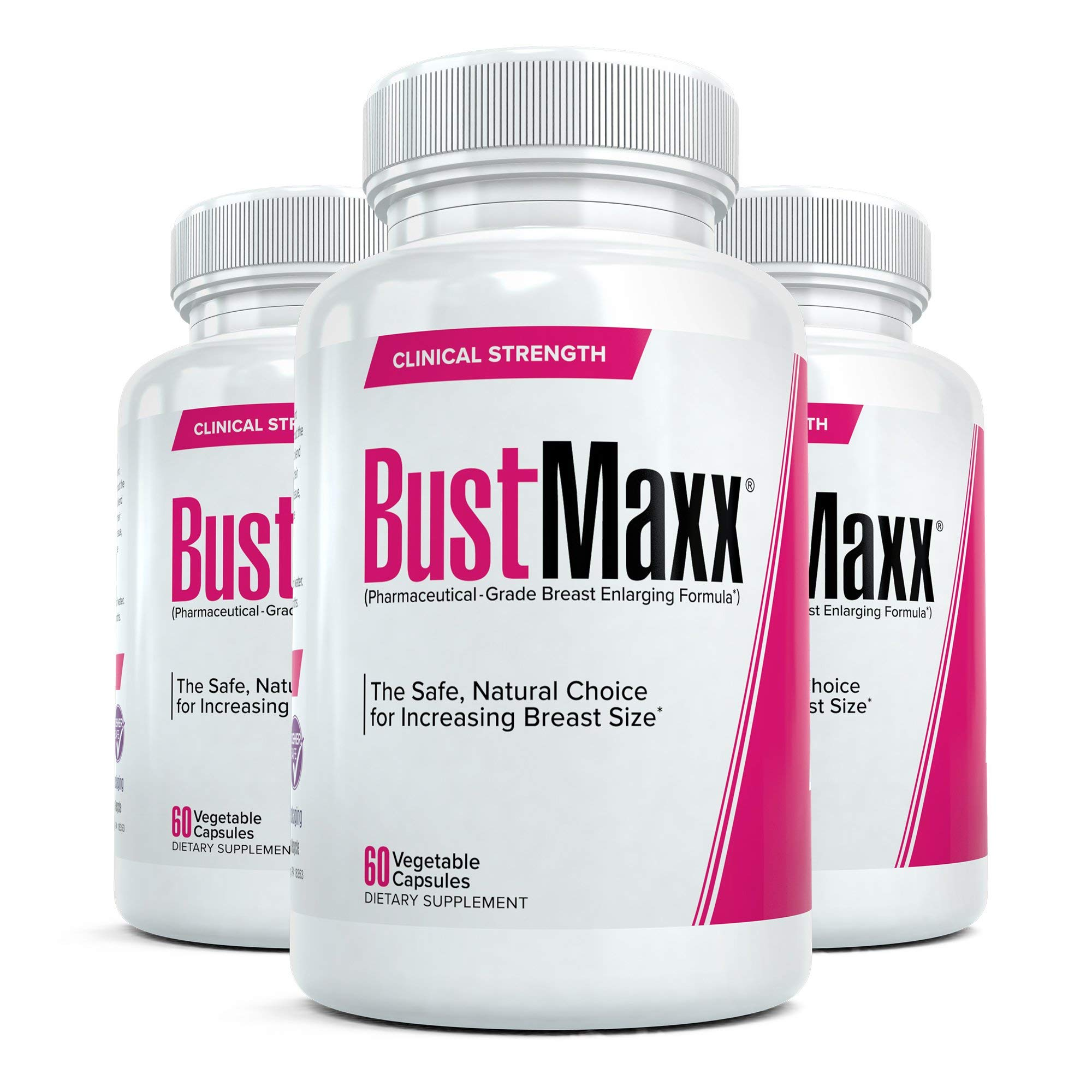 BustMaxx: The World's Top Rated Bust and Breast Enhancement Pills - Natural Breast Enlargement and Female Augmentation Supplement Designed to Increase Breast and Bust Size, 60 Capsules (3 Bottles)