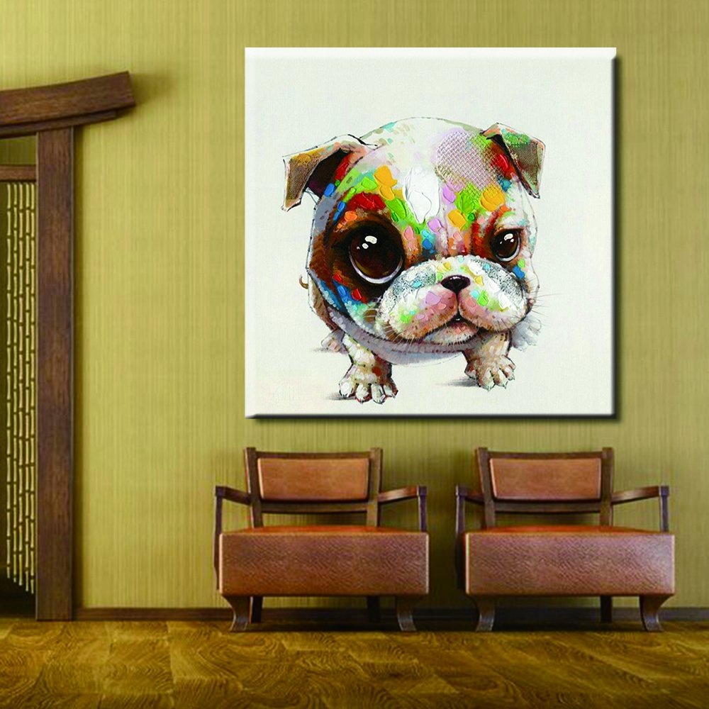 Amazon.com: Wall Painting Colorful Dog Cartoon Cute Animal Dogs ...