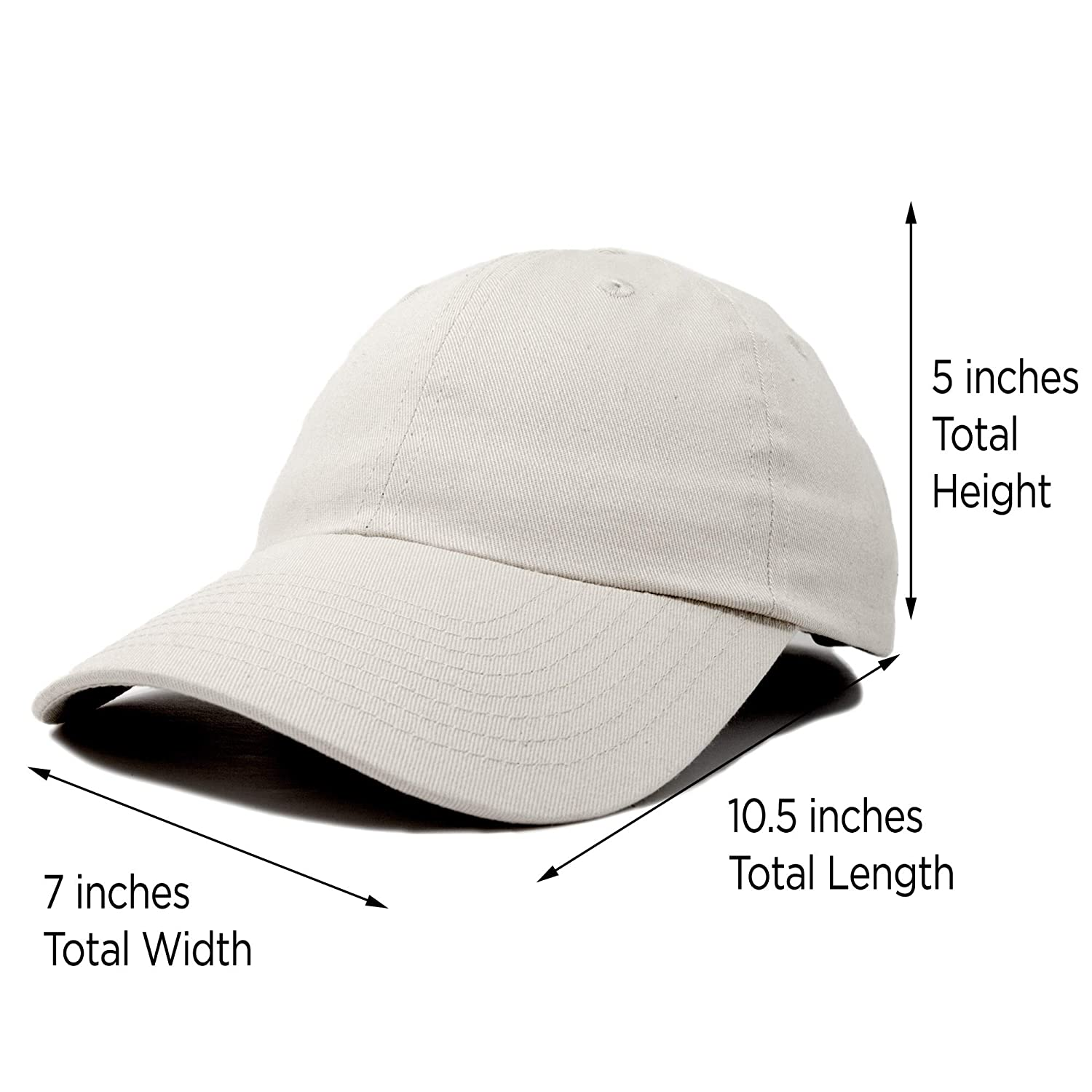 37ea53ac83b Dalix Unisex Unstructured Cotton Cap Adjustable Plain Hat