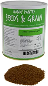 Handy Pantry Organic Alfalfa Sprouting Seeds - 5 Lbs - Resealable Can Brand - Growing Sprouts, Food Storage & More