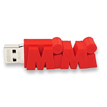 Individueller persönlicher USB Stick Datenstick mit eigenem Namen /  Schriftzug und Farbe nach Wahl – 8GB, 16 GB oder 32 GB – einzigartiges ...