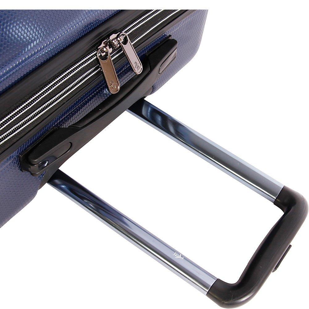 Metallic Blue ORIGINAL PENGUIN Collins 3 Piece Set Expandable Suitcase with Spinner Wheels