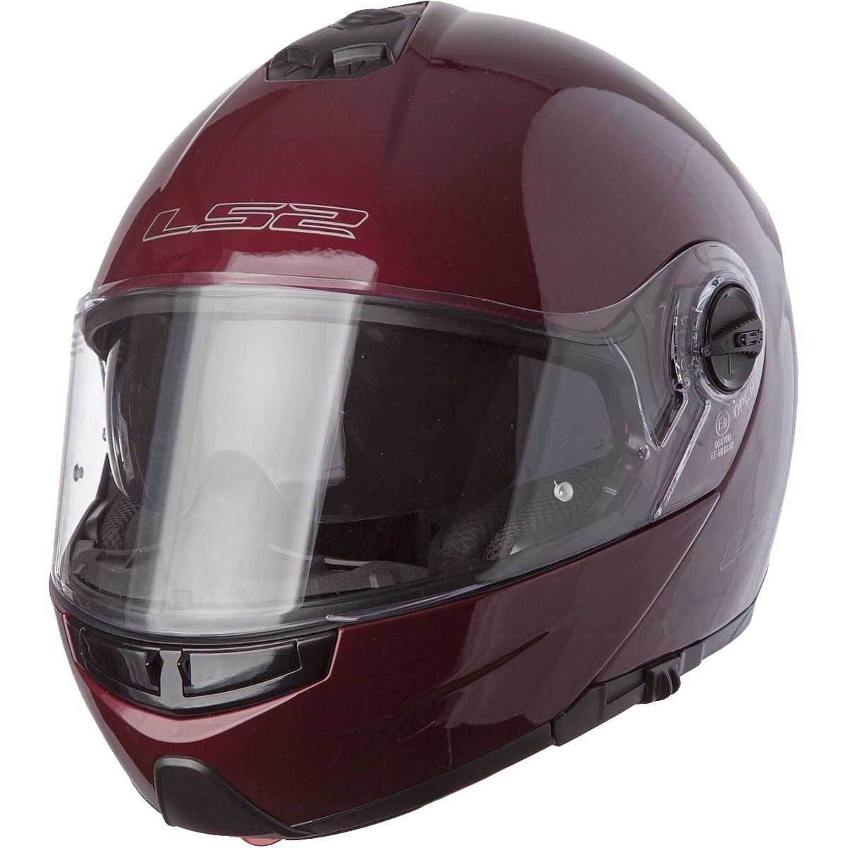 LS2 Helmets Strobe Solid Modular Motorcycle Helmet with Sunshield (Wineberry, Medium) by LS2 Helmets (Image #1)