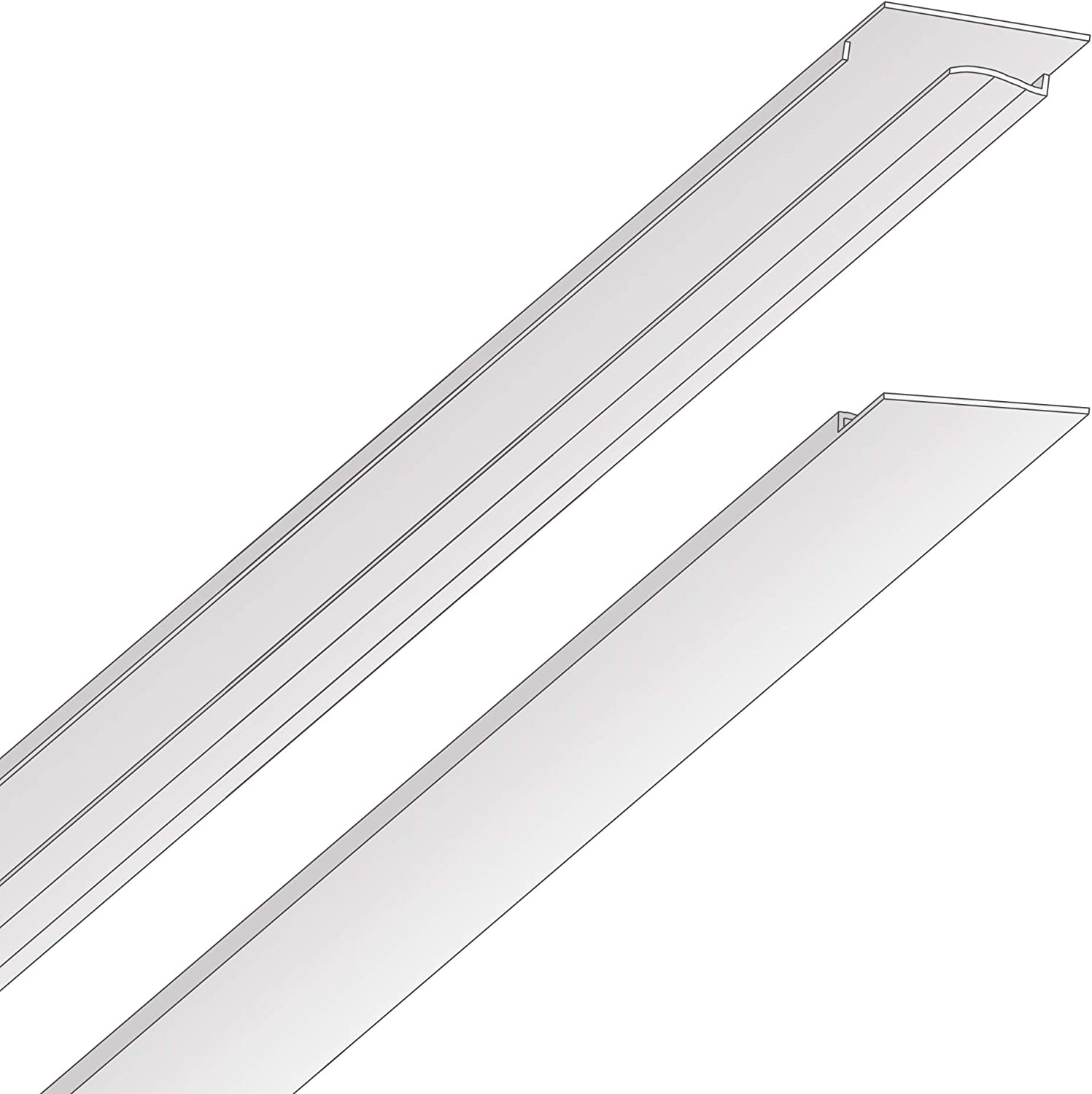 EZ-On T-bar Ceiling Grid Cover Kit - Snap On - White - 58 Piece (96 sq ft)