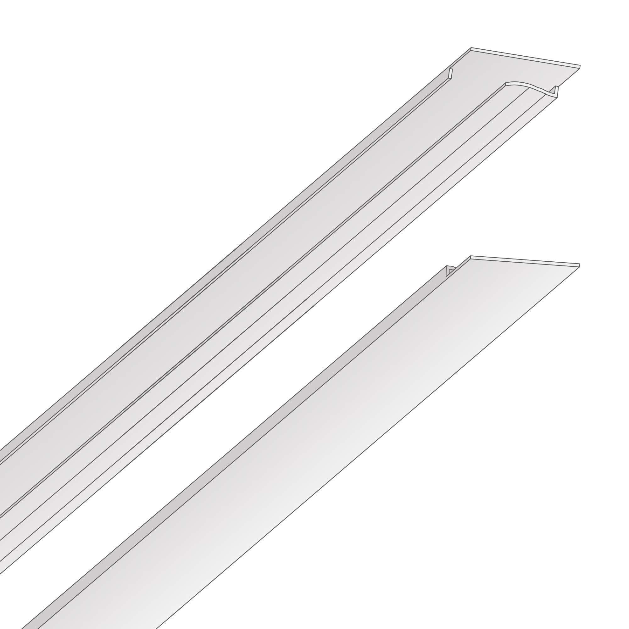 EZ-On T-bar Ceiling Grid Cover Kit - Snap On - White - 52 sq. ft.