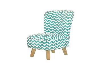Amazon.com: Babyletto Pop Mini silla Chevron, Azul/ turquesa ...