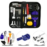 URXTRAL WT0001 144pc Watch Repair Kit Professional Spring Bar Tool Set,with Carrying Case 145 PCS