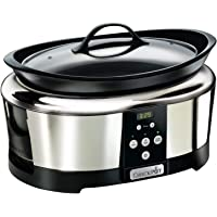 Crock-Pot SCCPBPP605-050 Schongarer - Das Original aus den USA | Slow Cooker | digitaler Countdown-Timer | 5,7 l | Automatische Warmhaltefunktion | herausnehmbarer und spülmaschinenfester Topf