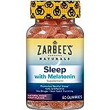 Zarbee's Naturals Adult Sleep Gummies with Melatonin, Natural Mixed Fruit Flavor, 60 Count