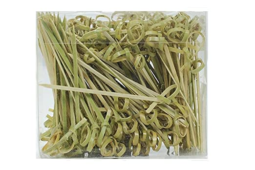 Ezee Bamboo Knot Skewers Sticks - 3.5 Inches (200 Pieces)