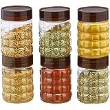 Steelo Plastic PET Container Set, 200ml, Set of 6, Maroon