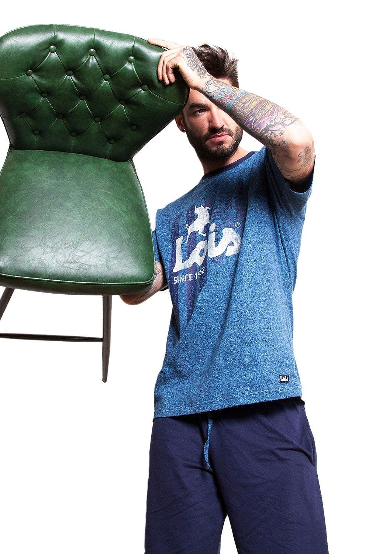 Lois - Pijama Corto Para Hombre Lois, Color Denim, Talla S: Amazon.es: Ropa y accesorios