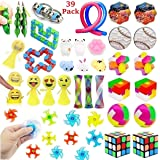 39 Pack Fidget Toys Bundle for Kids and Adults, Sensory Toys Set for Stress Relief and Anti-Anxiety, Sensory Fidget Hand…