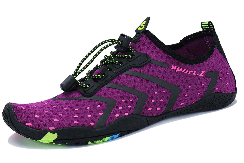 WXDZ Barefoot Water Shoes Aqua Socks Surf Pool Yoga Beach Swim Exercise for Mens and Womens