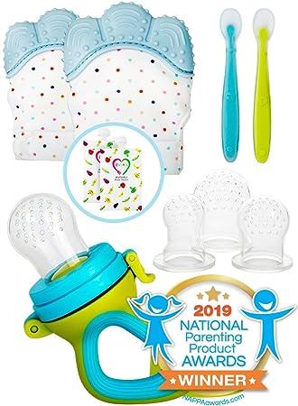 Amazon.com: Manoplas de dentición para bebés con chupete ...