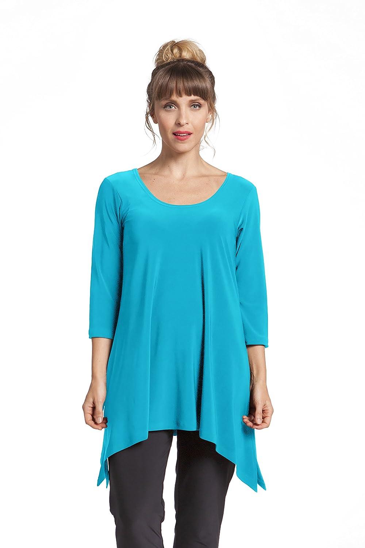 Sympli Womens Mimic Tunic~Turquoise