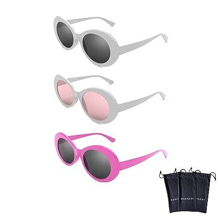 29f85d5c348 Davachi Clout Goggles Set With Cases Kurt Cobain Oval Sunglasses White