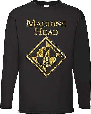 LaMAGLIERIA Camiseta de Manga Larga Hombre Machine Head Cod Mh02 - Camiseta 100% algodón Metal Band: Amazon.es: Ropa y accesorios