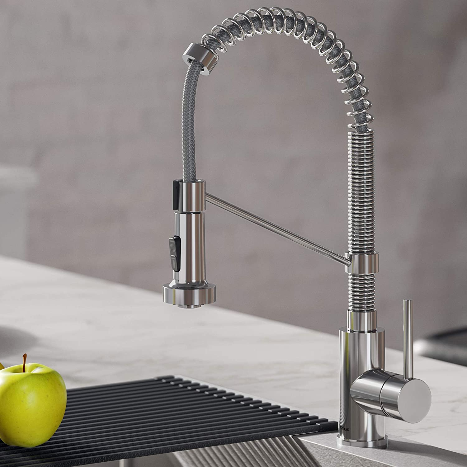 kraus kpf 1610ch bolden 18 inch commercial kitchen faucet with dual function pull down sprayhead in all brite finish 18 inch chrome