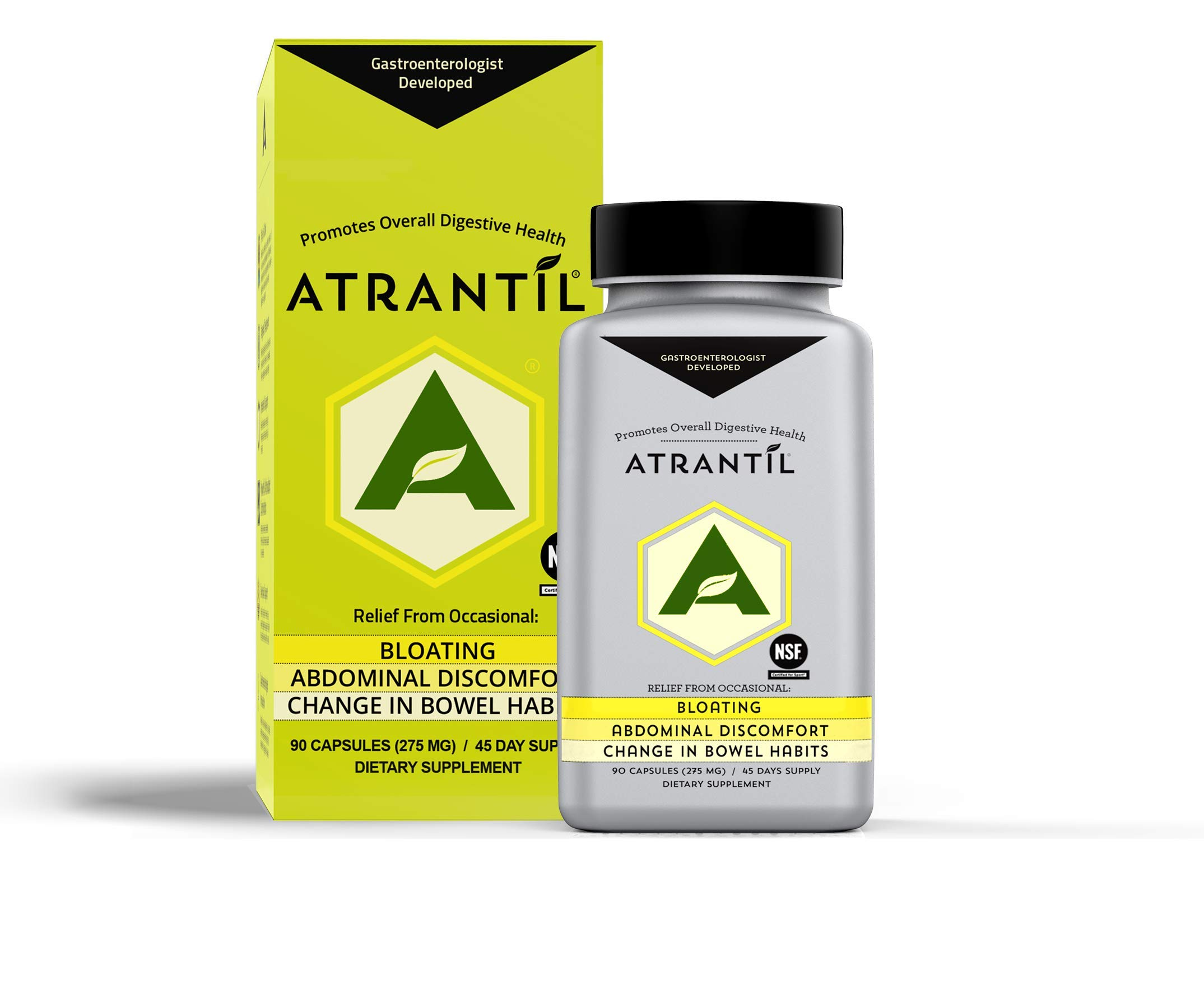 Atrantil (90 Clear Caps): Bloating, Abdominal Discomfort, Change in Bowel Habits, and Everyday Digestive Health by Atrantil