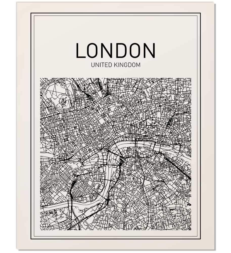 London City Map Printable.Amazon Com Map Print Map Art London Map City Map Print Map Wall
