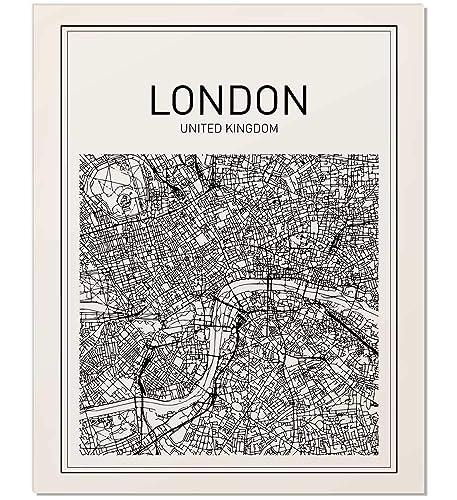 Amazon Com Map Print Map Art London Map City Map Print Map Wall