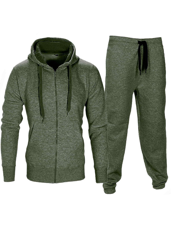 Vert Love My Fashions Max Ensemble Sweat /à Capuche et Pantalon en Polaire pour Homme XXXX-Large
