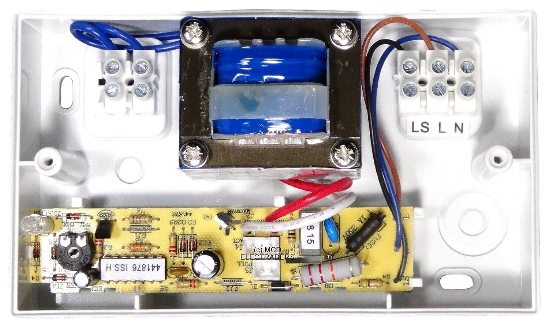 temporizador modelo 4, 100/mm SELV 12/V, apto para uso en zona 1 AirVent 434399/bajo voltaje Axial Extractor Kit de transformador y ventilador