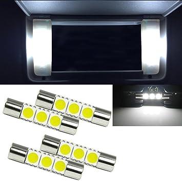 Xotic Tech 6641 - Bombillas LED de repuesto para espejo retrovisor (10 unidades, xenón