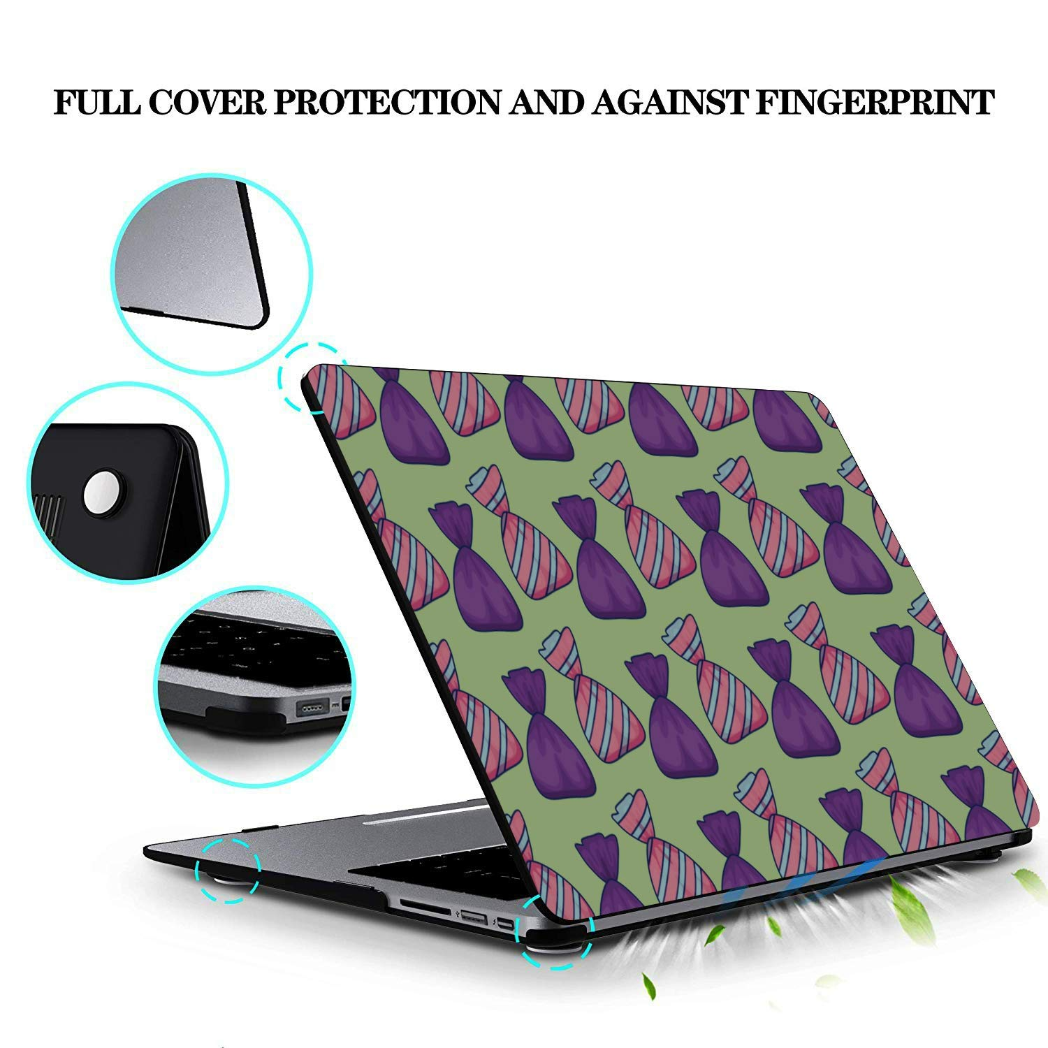 Mackbook Pro Case Sweet Children Colorful Candy Bag Plastic Hard Shell Compatible Mac Air 11 Pro 13 15 MacBook Air Computer Case Protection for MacBook 2016-2019 Version