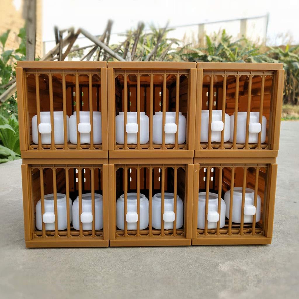 Liudan Birdhouse Nido de cría de Loros Jaula de pájaros Cuadrada ...