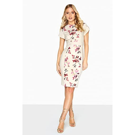 Little Mistress Womens Ladies Harper Embroidered Pencil Dress (12 UK)  (Floral) 85ba443fb0
