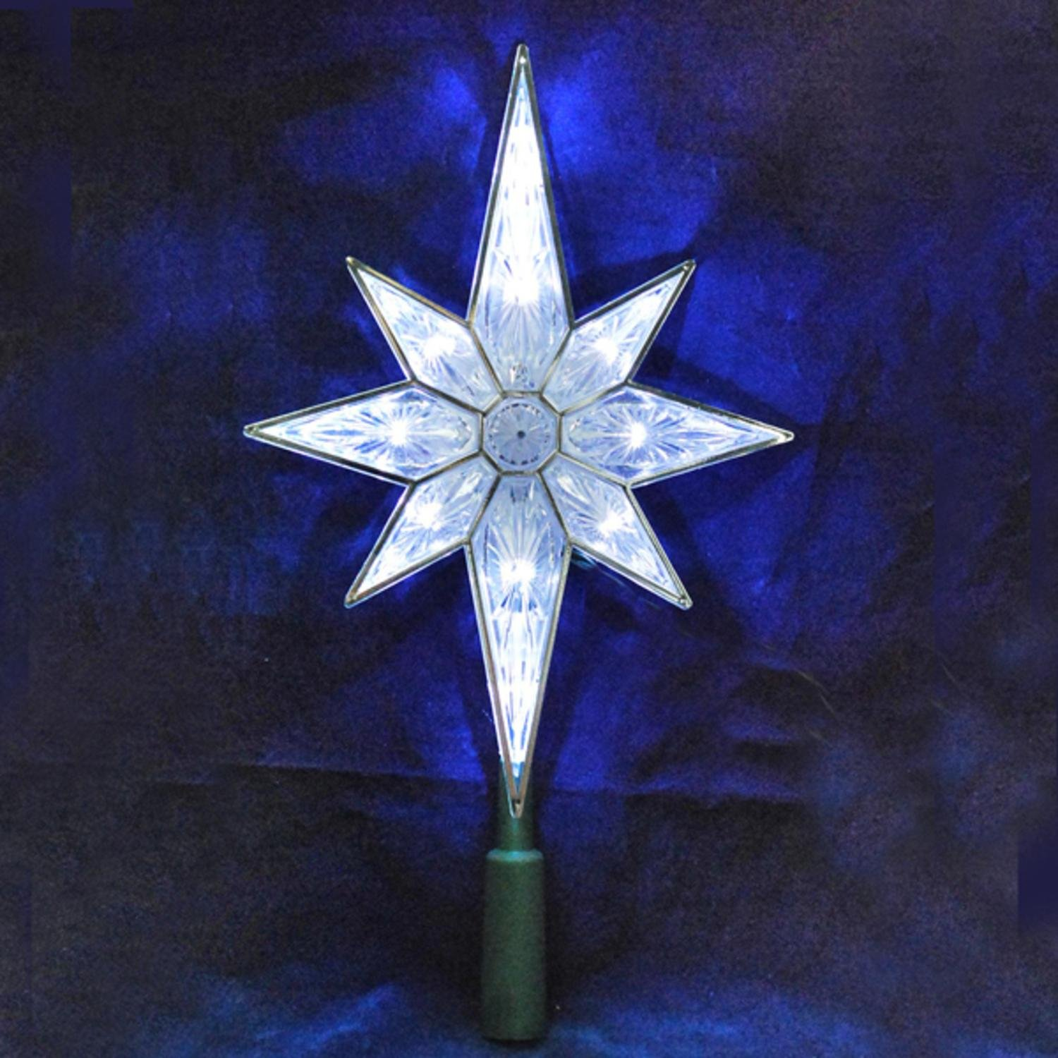 10.5 LED Lighted 8-Point Star of Bethlehem Christmas Tree Topper - Pure White Lights Kurt Adler BLZ-36832