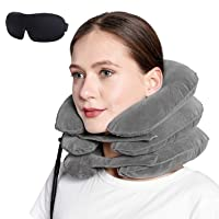 Cervical Neck Traction Device Inflatable Air Pillow for Pain Relief Adjustable Neck...