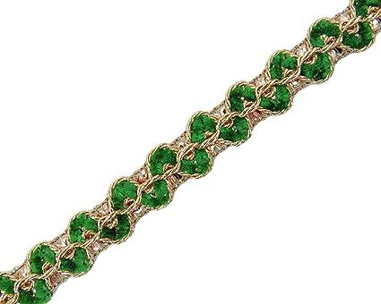 Edging Lace Sewing Metallic Gold Supply Braid Trim 2 Mm Thin Craft 18 Yards