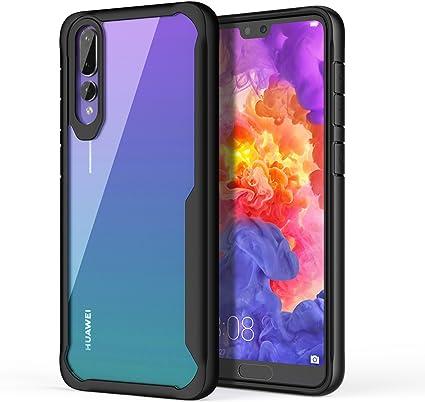 ORETECH Coque pour Huawei P20 Pro, Coque pour Huawei P20 Pro Housse [Antichoc] TPU Silicone Gel et Couvercle Arrière Transparent Bumper Coque Housse ...