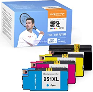 myCartridge PHOEVER Compatible Ink Cartridge Replacement for HP 950XL 951XL 950 XL 951 XL Ink for Officejet Pro 8600 8610 8100 8615 8620 8625 8630 8640 High Yield (Black Cyan Magenta Yellow, 4-Pack)