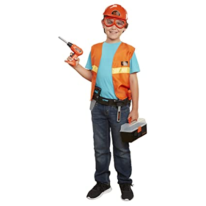 7a6c65a2767 Buy Black + Decker Jr. Carpenter Dress-up & Play Set [Amazon Exclusive]  Online at Low Prices in India - Amazon.in