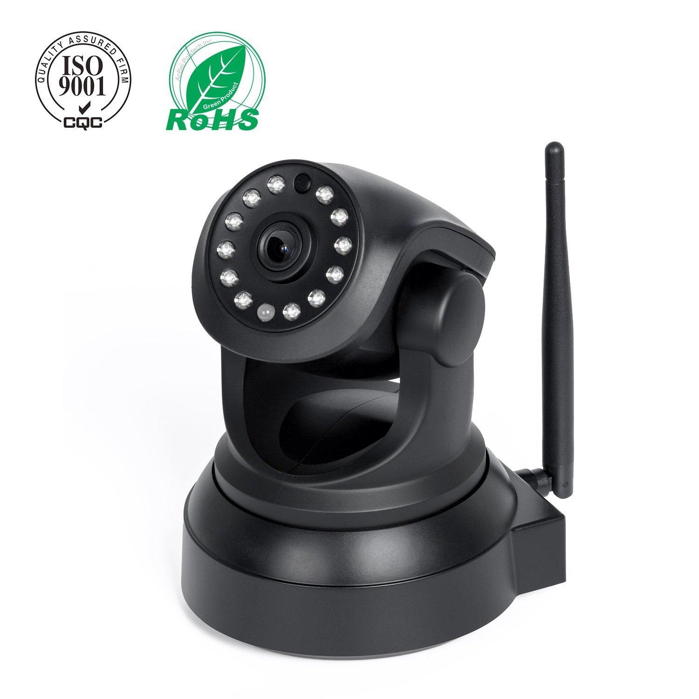 Elebor Cámara inalámbrica, Wi-Fi, cámara IP, cámara de seguridad para el hogar, sistema de vigilancia, sistema de seguridad con visión nocturna, audio bidireccional, control remoto 1080p white cámara IP LE008-1080pcamera